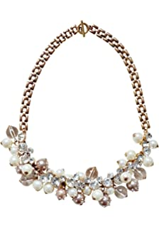 Modeschmuck kette gold  Happiness Boutique Damen Vintage Statement Kette Strass ...