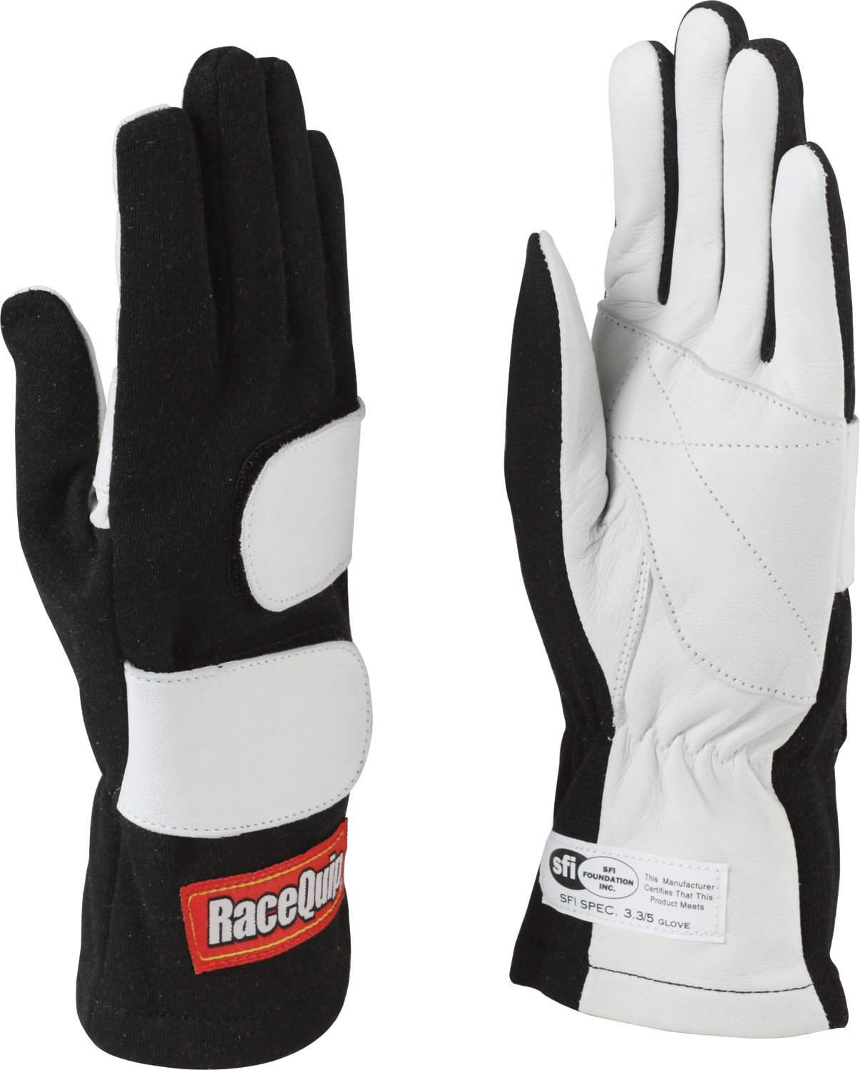 RaceQuip 312003 Mod Series Medium Black SFI 3.3/5 Double Layer Driving Gloves