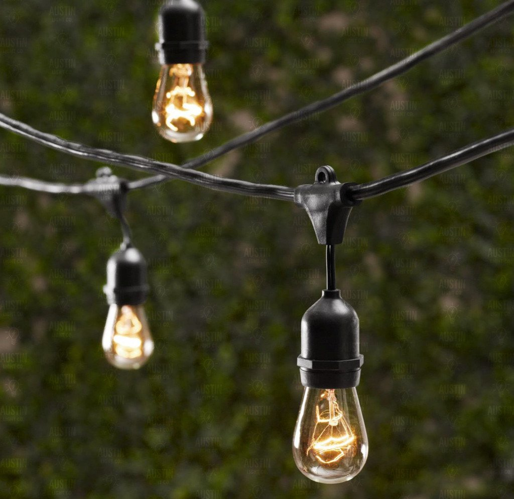 Amazon.com : Outdoor Commercial String Globe Lights With Hanging Drop  Sockets   50ft   24 Sockets And Bulbs Outdoor Or Indoor. Great For Patio,  CafÃ, Party, ...