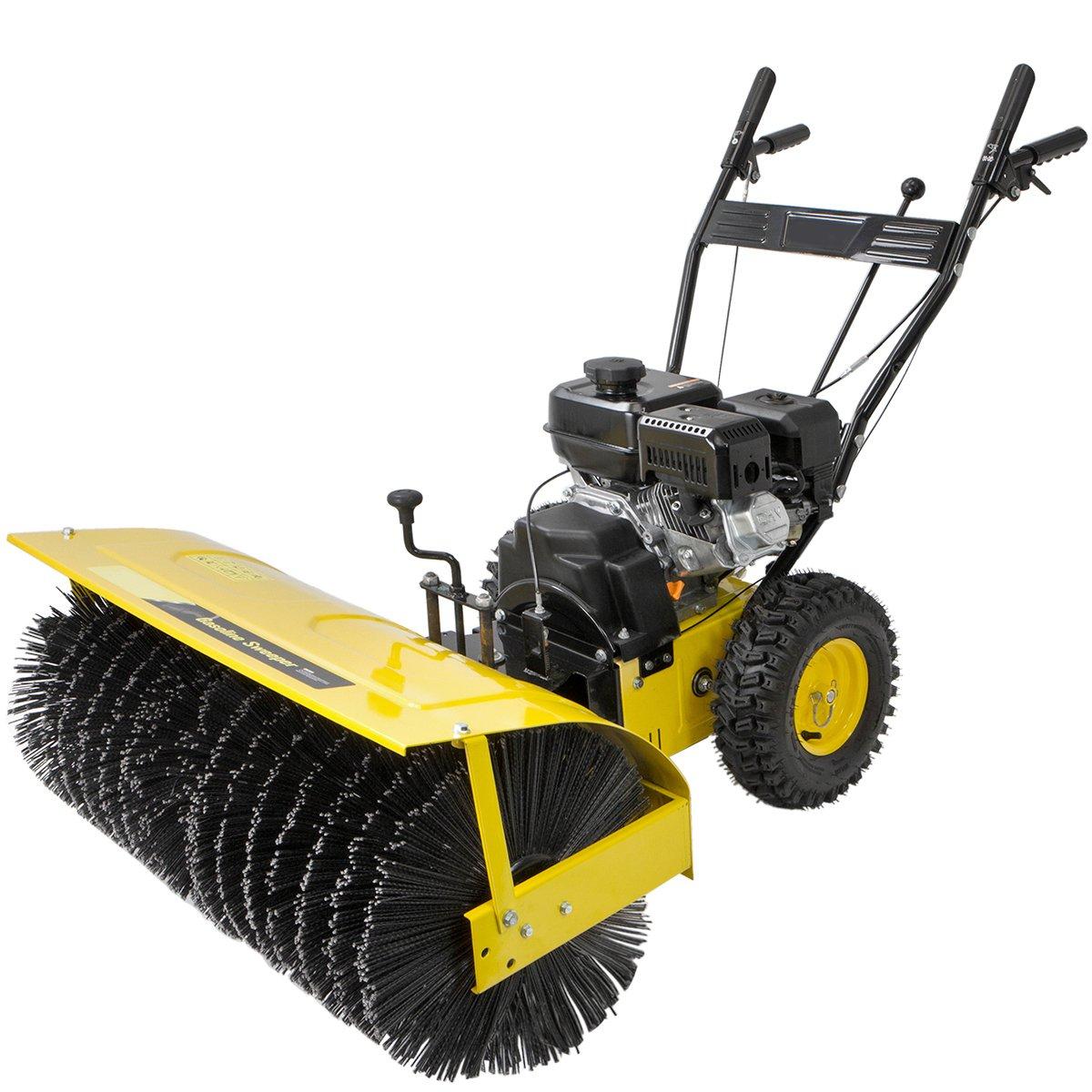 XtremepowerUS 31'' Walk Behind snow Sweeper Power Brush Broom Industrial 7hp Gas Engine