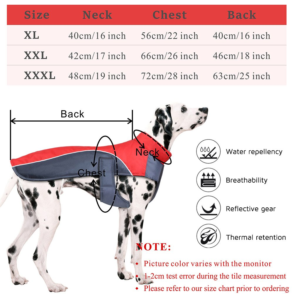 Amazon dog winter coat petbaba waterproof warm parka with amazon dog winter coat petbaba waterproof warm parka with fleece reflective jacket in cold weather xxl in red pet supplies nvjuhfo Images
