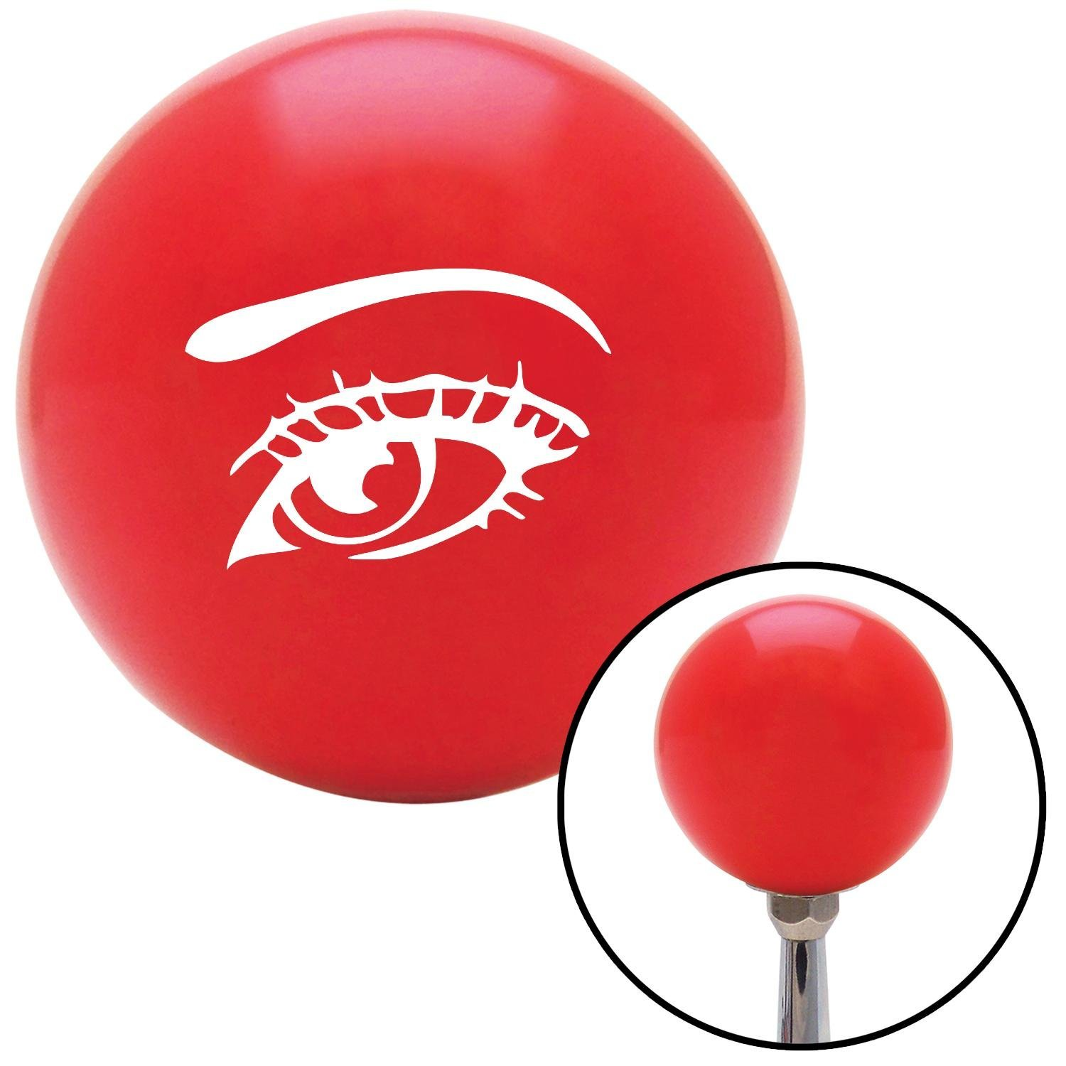 White Womans Eye American Shifter 95094 Red Shift Knob with M16 x 1.5 Insert