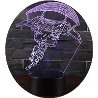 Leisu 3D Lámpara LED luz de la noche