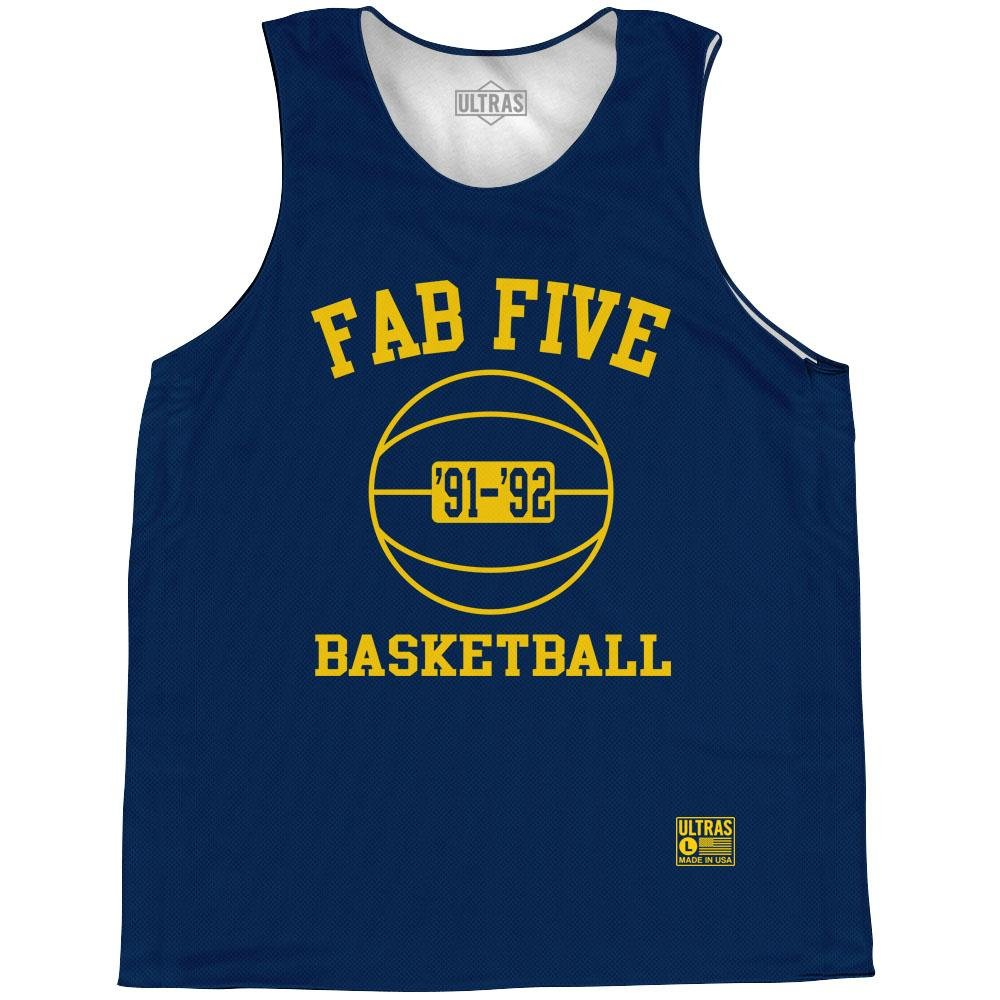 Ultras Michigan Fab Five Basketball Practice Singlet Jersey