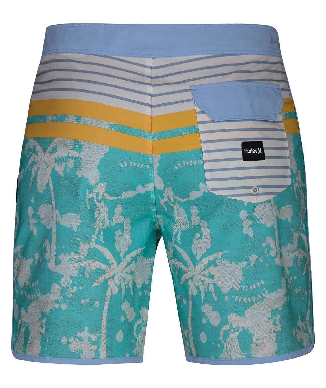 Hurley Mens Phantom P30 Printed 18 Scallop Hem Boardshort Swim Short