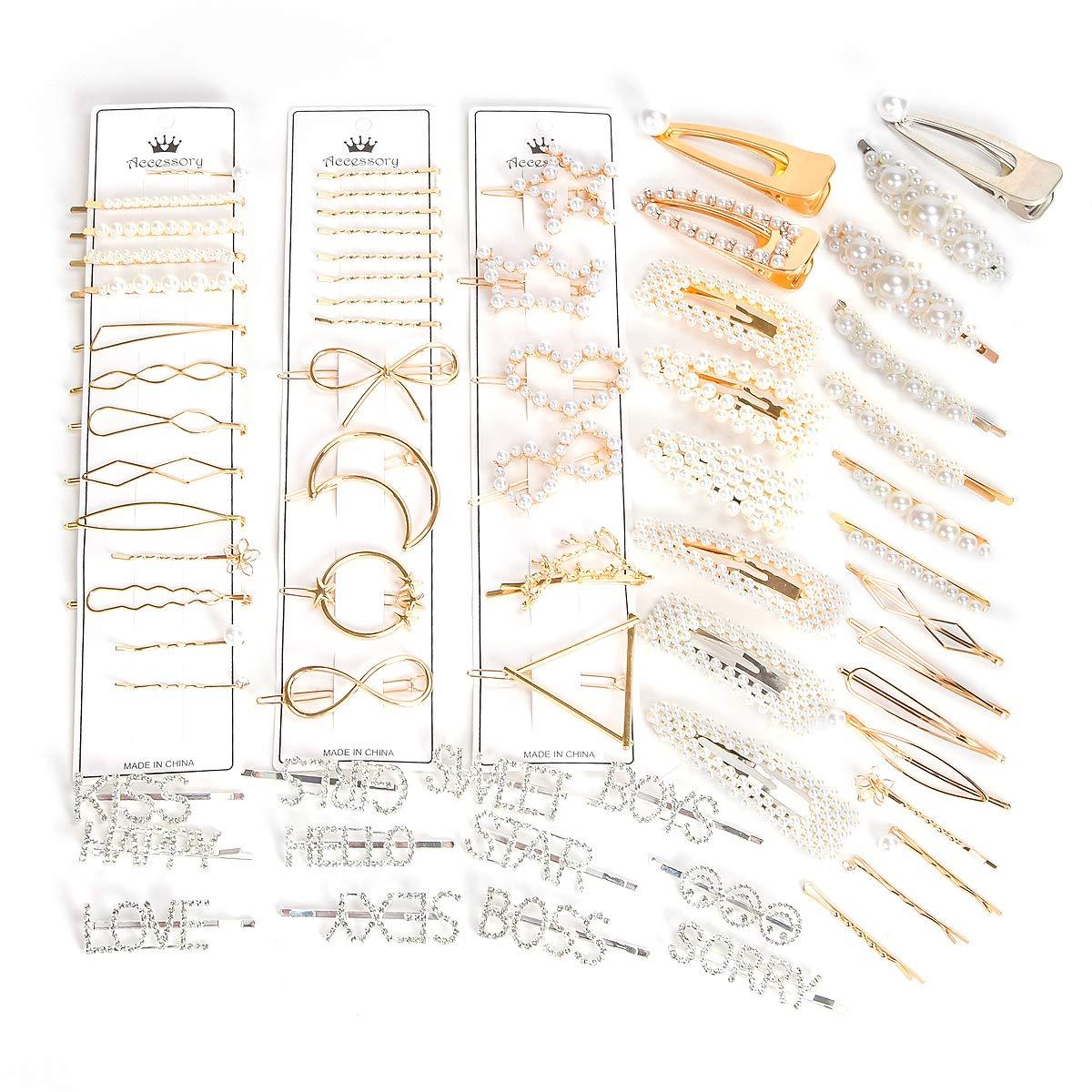LoiStu 32 Pcs Pearl Hair Clips, Fashion Non-Slip Artificial Pearl Hair Clips, Sweet and Elegant Decorative Hair Clips for Party, Wedding, Daily (11 PCS) by LoiStu