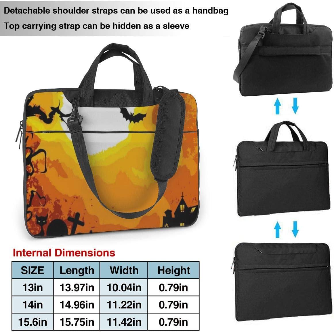 Happy Halloween Artist Painting Laptop Carrying Case Shoulder Bag Briefcase W//Strap Women Men 13