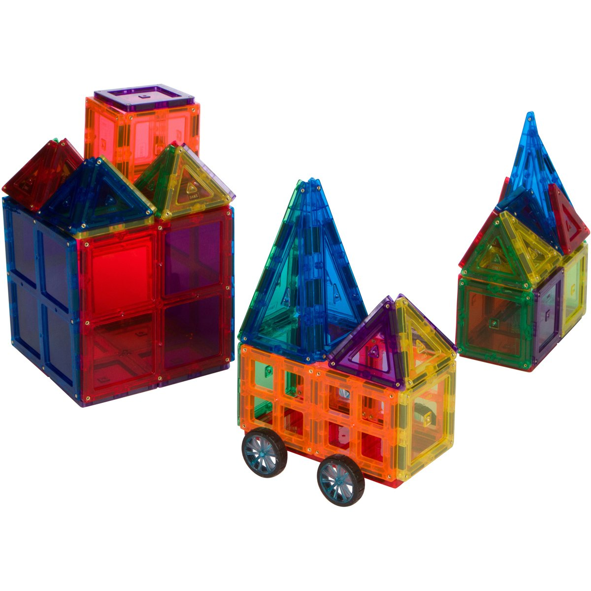 35pcs Magnetic Blocks For Kids Building Blocks Set Includes a Car Base and Windows Meets ASTM F963 Standards