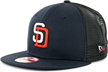 9618880e449c7 New Era 950 San Diego Padres Tony Gwynn 4 Trucker Snapback Hat Navy Mens  MLB Cap