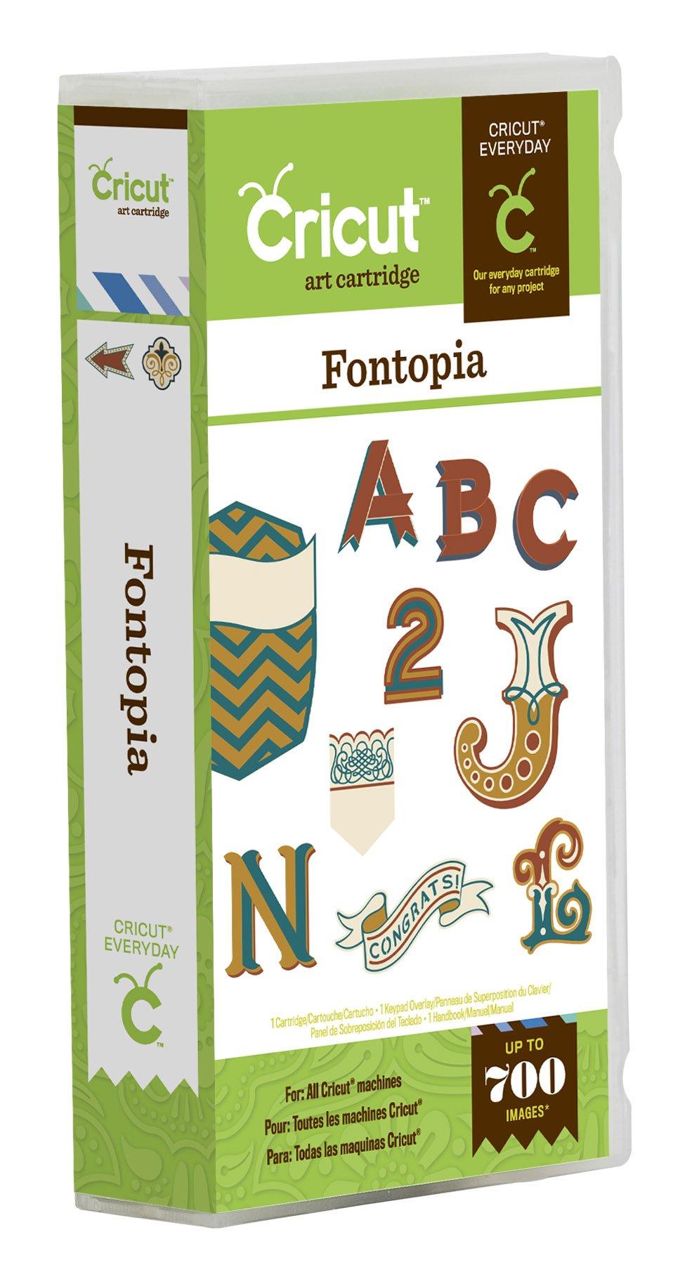 Cricut 2001755 Fontopia Cartridge