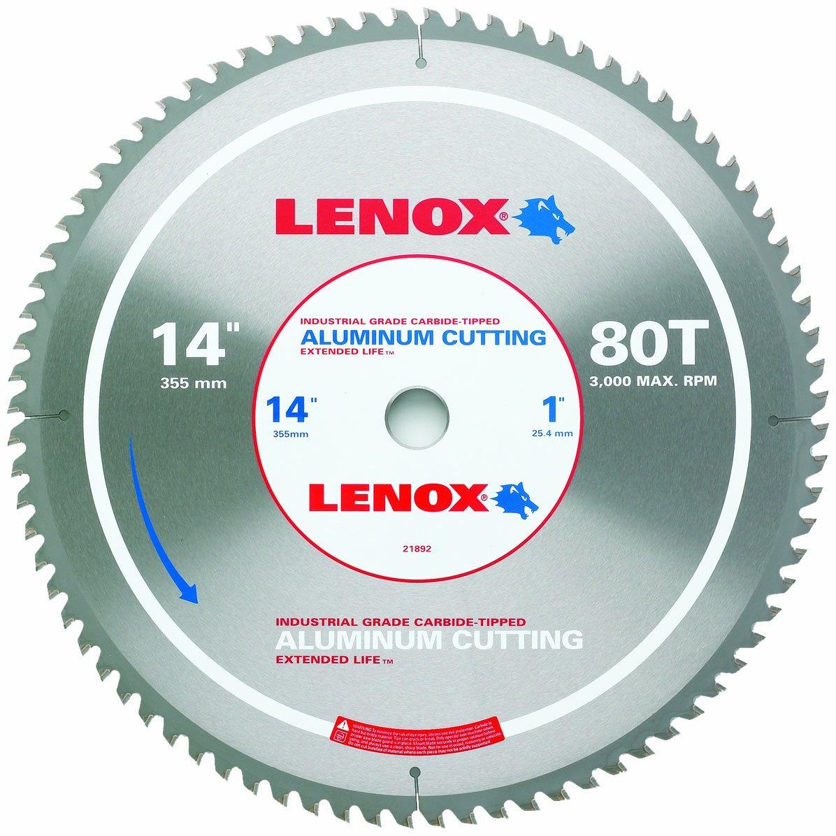 LENOX Tools Metal-Cutting Circular Saw Blade, Aluminum-Cutting, 14-inch, 80-Tooth (21892AL140080CT)