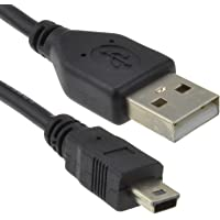 kenable USB 2.0 24AWG Hi-Speed A to Mini-B 5 pin Cable Power & Data Lead 1.5m (~5 feet)