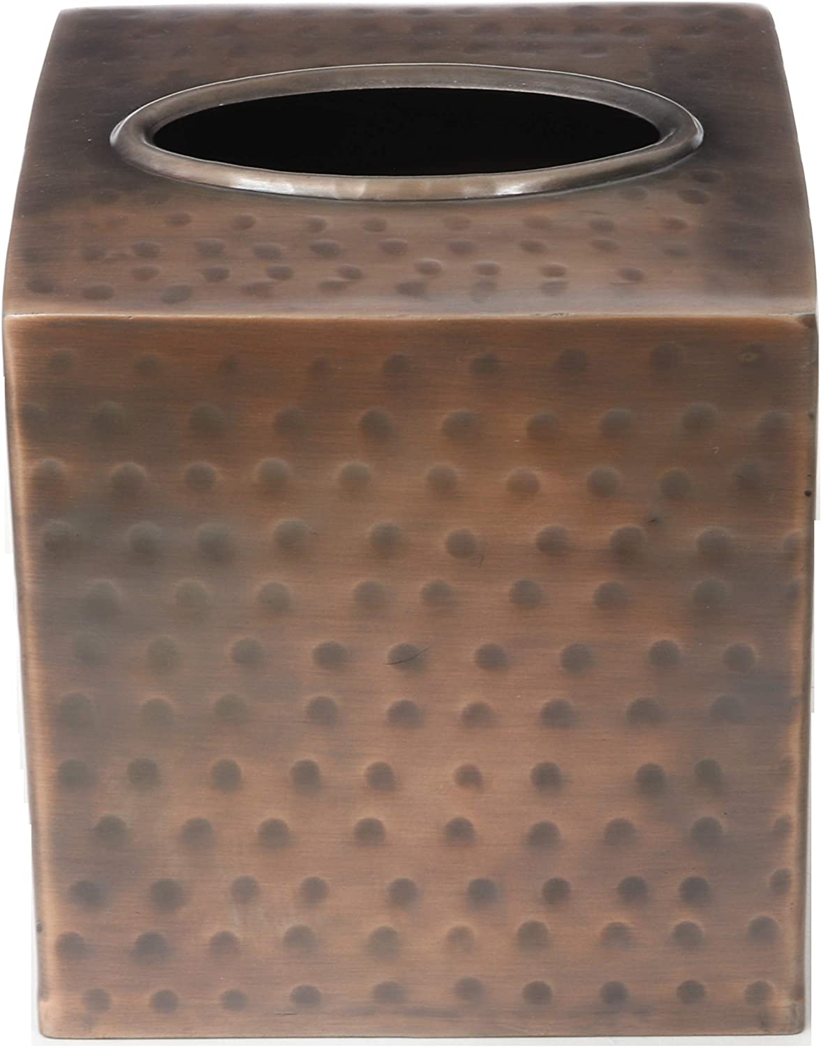 Monarch Abode Copper Finish Hand Hammered Metal Tissue Box Cover: Home & Kitchen