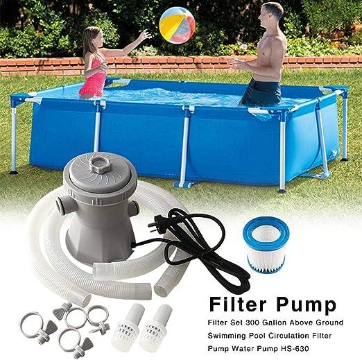 Bomba de filtro para piscina bomba de circulaci/ón limpiador de piscina filtro para piscina estanques Azonesyeo