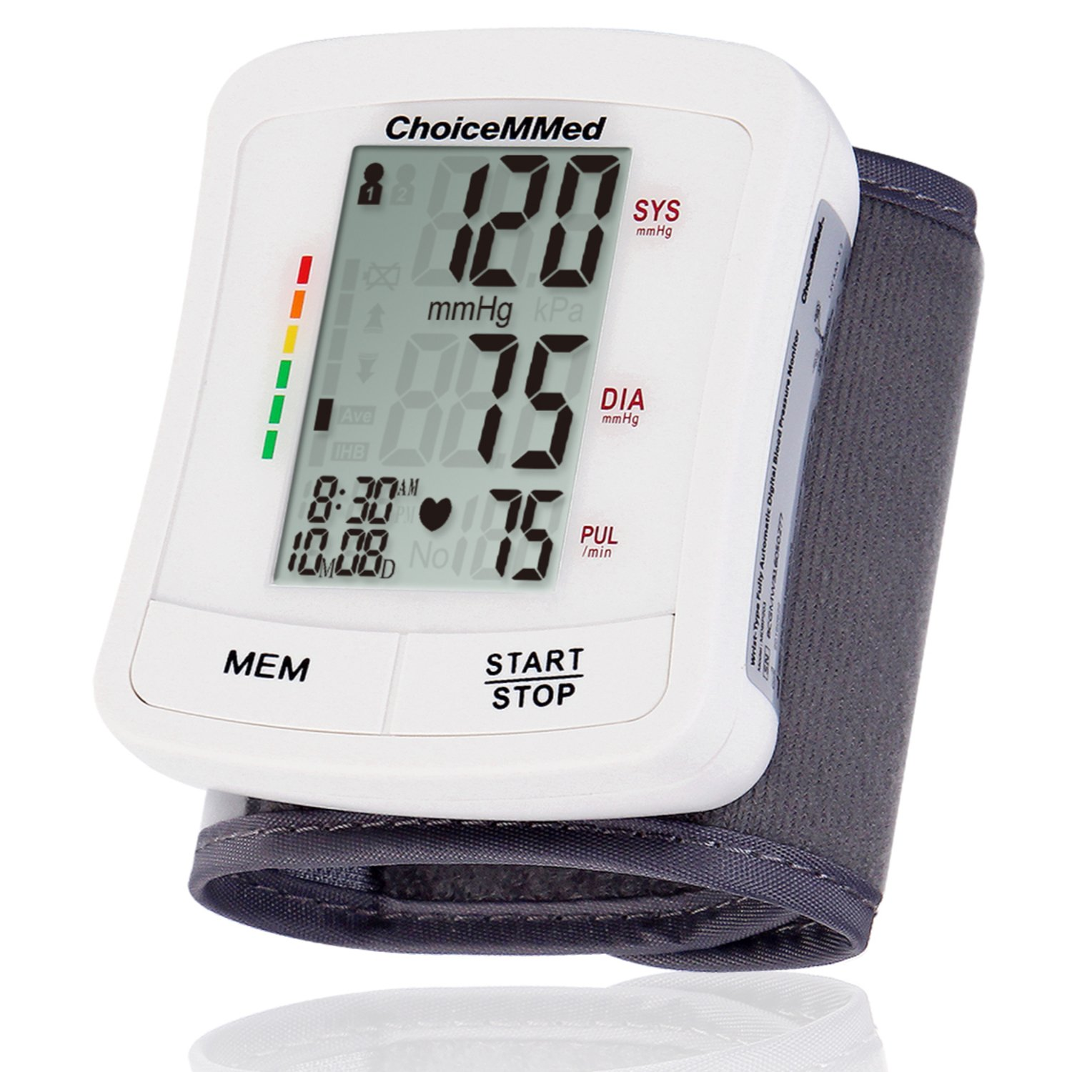 "CHOICEMMED Wrist Blood Pressure Monitor - BP Cuff Meter with Display - Blood Pressure Machine up 5.3""-8.5"" Wrists - Blood Pressure Tester Kit with Case - Blood Pressure Gauge with Memory"