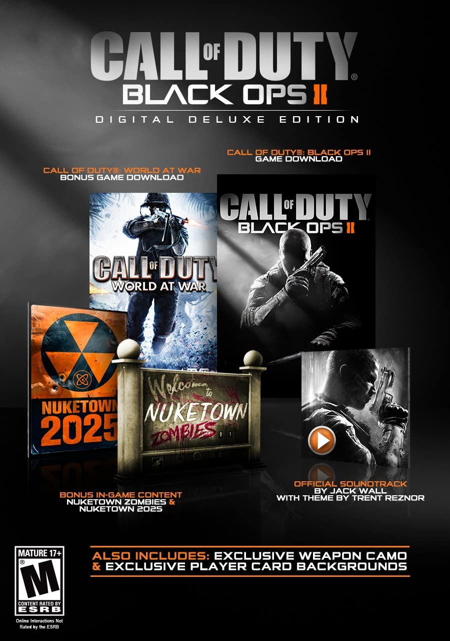 Amazon call of duty black ops ii digital deluxe edition amazon call of duty black ops ii digital deluxe edition online game code video games voltagebd Gallery