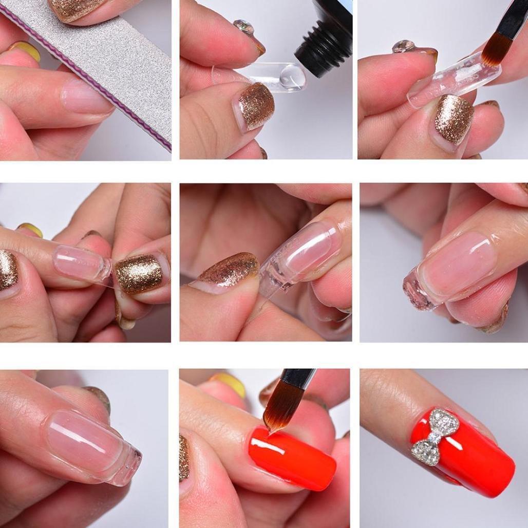 Gel de uñas consejos extensión, wawer Gel constructor de uñas rápido edificio dedo camuflaje extensión pegamento uñas arte UV LED Gel constructor uñas ...