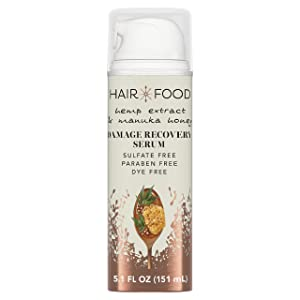 Hair Food Hemp Extract & Manuka Honey Repair Serum, 5.1 fl oz | Hair Repairing Product for Dry, Damaged Hair