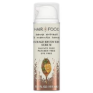 Hair Food Hemp Extract & Manuka Honey Repair Serum, 5.1 fl oz | Hair Repairing Product for Dry, Damaged Hair