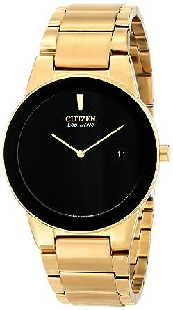 46d6afd26 Amazon.com: Citizen Eco-Drive Men's AU1062-56E Axiom Gold-Tone Watch ...