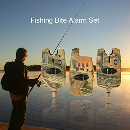 Amazon.com : Fishing Alert Alarm Set 2 Fishing Bite Alarms + ...
