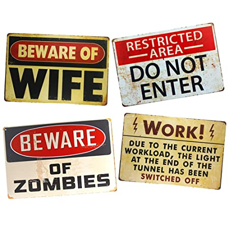 yunuo Beware of Zombies - Cartel de Advertencia con Texto en ...
