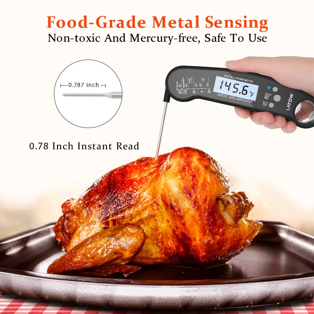 Digital Meat Thermometer, Puredazz Water-proof Instant Read Cooking thermometer