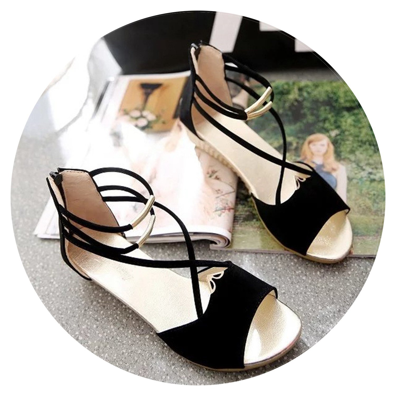 Women's Sandals Fashion Summer Wedge Shoes Casual Ladies Open Toe Gladiator Sandals B07DN3FFS1 9 B(M) US|Black
