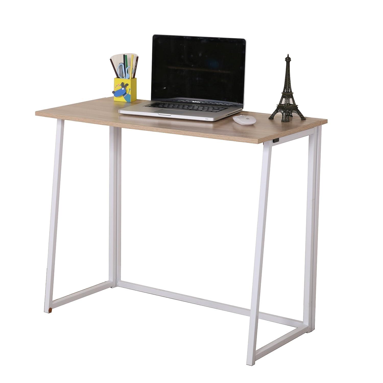 Superbe Cherry Tree Furniture Compact Foldable Computer Desk Laptop Desktop Table  (Natural): Amazon.co.uk: Kitchen U0026 Home