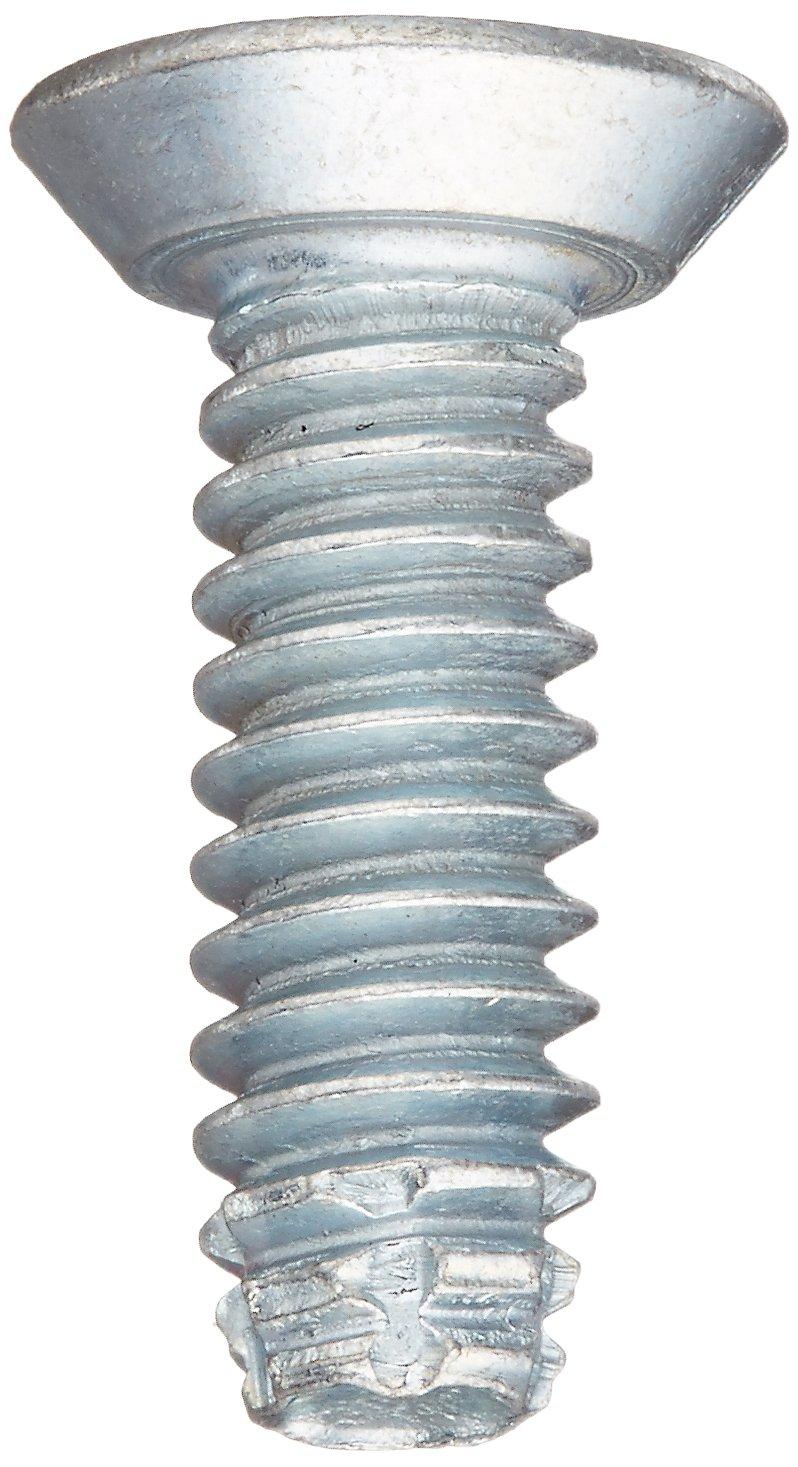 #10-24 Thread Size Type F Zinc Plated 3//4 Length Pack of 100 Steel Thread Cutting Screw 82 Degree Flat Undercut Head Phillips Drive