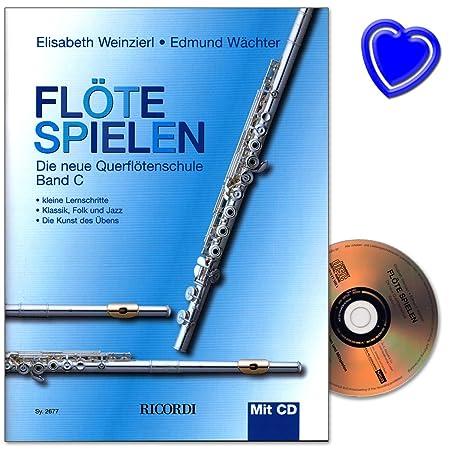 flte-spielen-band-c-neue-querfltenschule-von-elisabeth-weinzierl-und-edmund-wchter-mit-cd-und-bunter-herzfrmiger-notenklammer