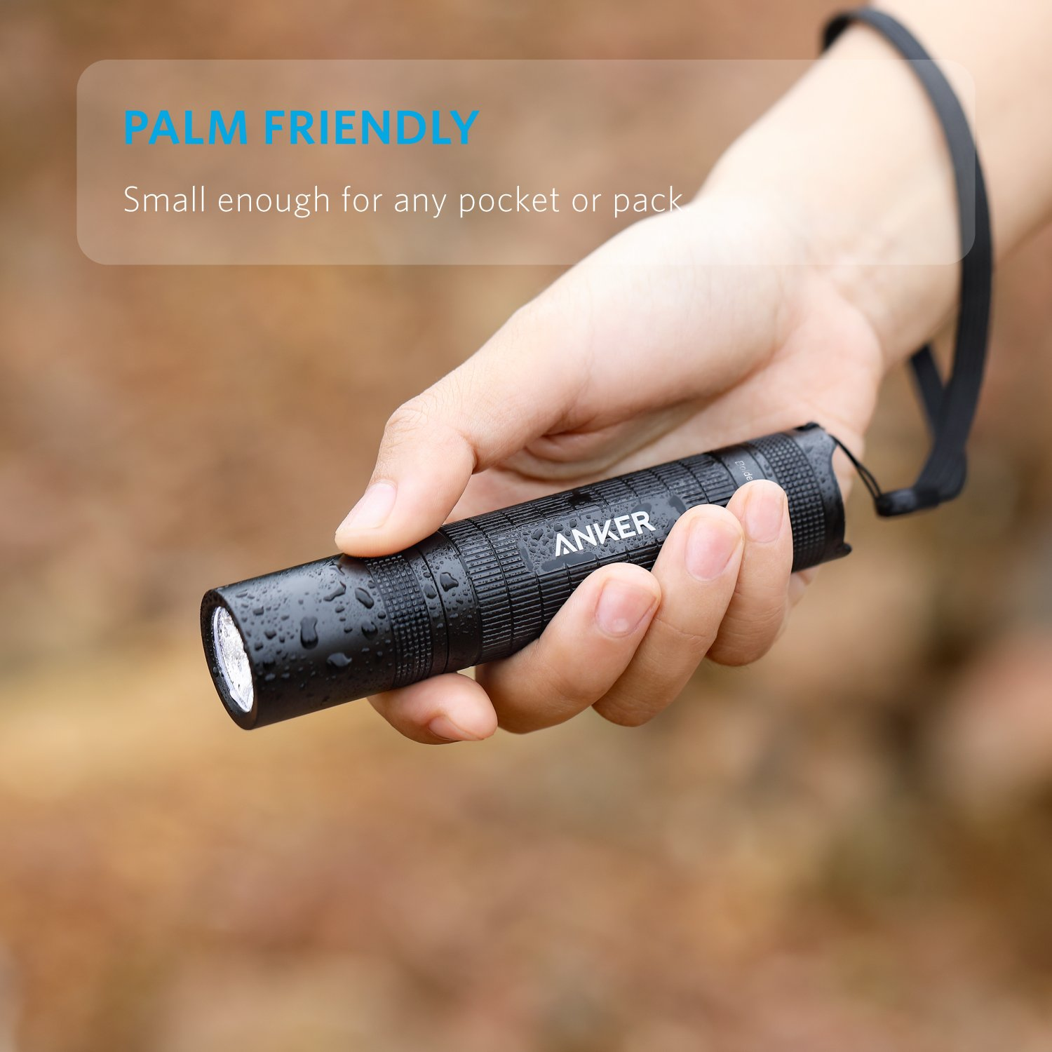 IP65 Water Resistant Super Bright 400 Lumens CREE LED Pocket-Sized LED Torch 3 Modes High//Low//Strobe for Indoors and Outdoors AK-E1421011 2 PACK Anker Bolder LC40 LED Flashlight