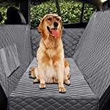 Honest Luxury Quilted Dog Car Seat Covers with Side Flap Pet Backseat Cover for Cars, Trucks, and Suv's - Waterproof & Nonsli