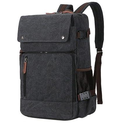 5641da053ec BAOSHA BC-08 3-in-1 Multifunction Men's Briefcase Rucksack Messenger Bag  Convertible Vintage Canvas Laptop Backpack 15.6 inch Laptop Bags Handbag ...