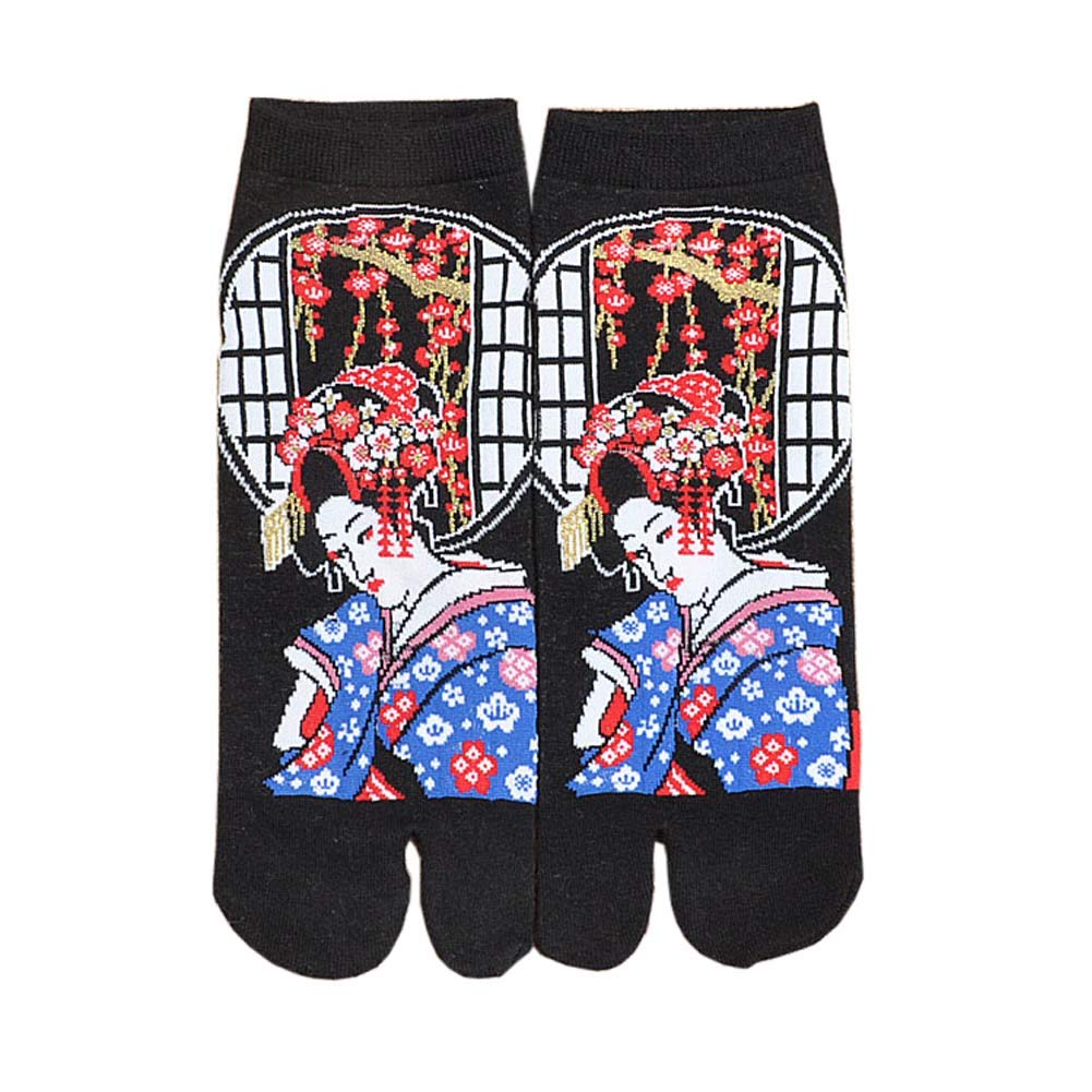 Japanese Style Kimono Sandal Split Toe Tabi Ninja Geta Socks Kimono Socks