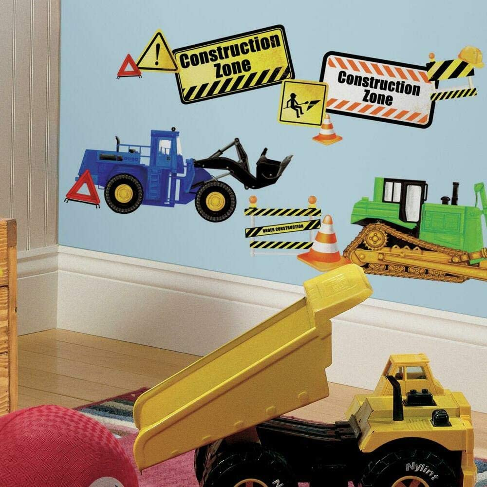 RoomMates Construction Trucks Peel And Stick Wall Decals
