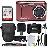 Kodak PIXPRO FZ43 Digital Camera (Red) + 16GB...