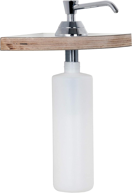 mat. cuisine ou lavabo encastrable en acier inoxydable T/ête K28 SUS304 261s Distributeur de savon Distributeur de savon pour /évier 300ml, plastique avec bouteille