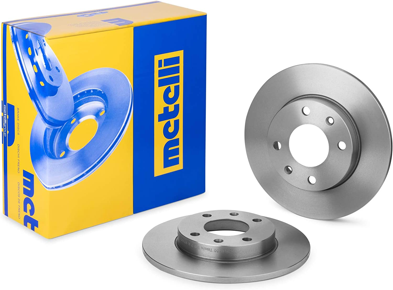 metelligroup 23-0100 Disco de Freno Kit Compuesto de 2 Discos de Freno Repuestos para Automoviles Certificado ECE R90