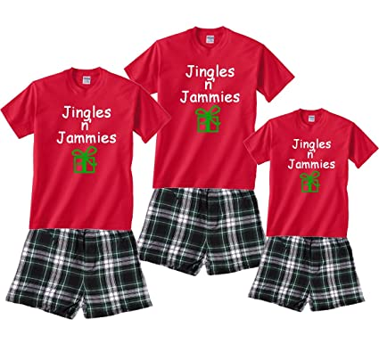 jingles n jammies wgreen gift red shirt boxer set adult small