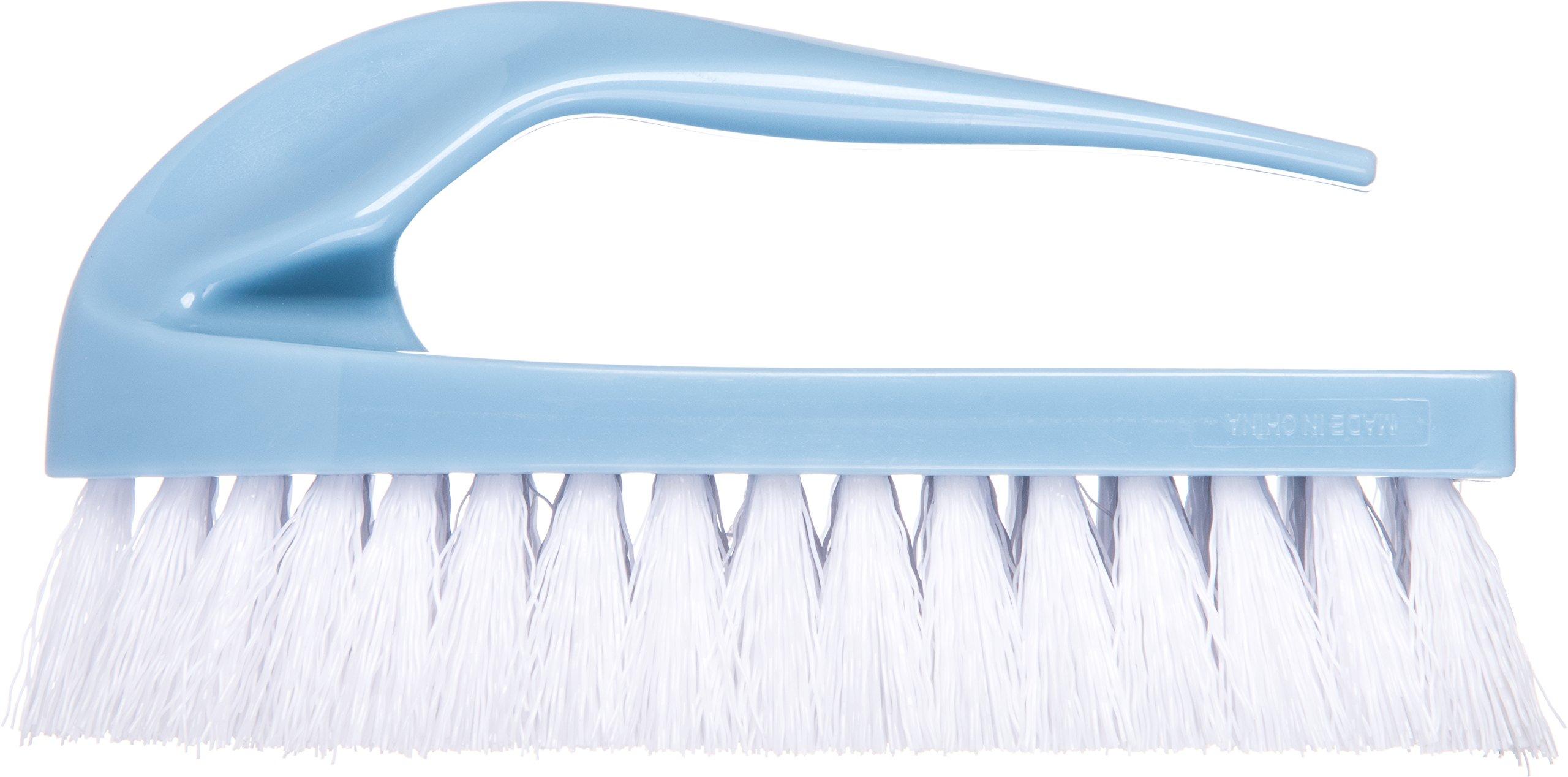 Carlisle 3628900 Iron-Style Handle Scrub Brush, Blue Plastic Block, 1''-Long White Polypropylene Bristles, 6'' L x 2-1/2'' W (Case of 48)