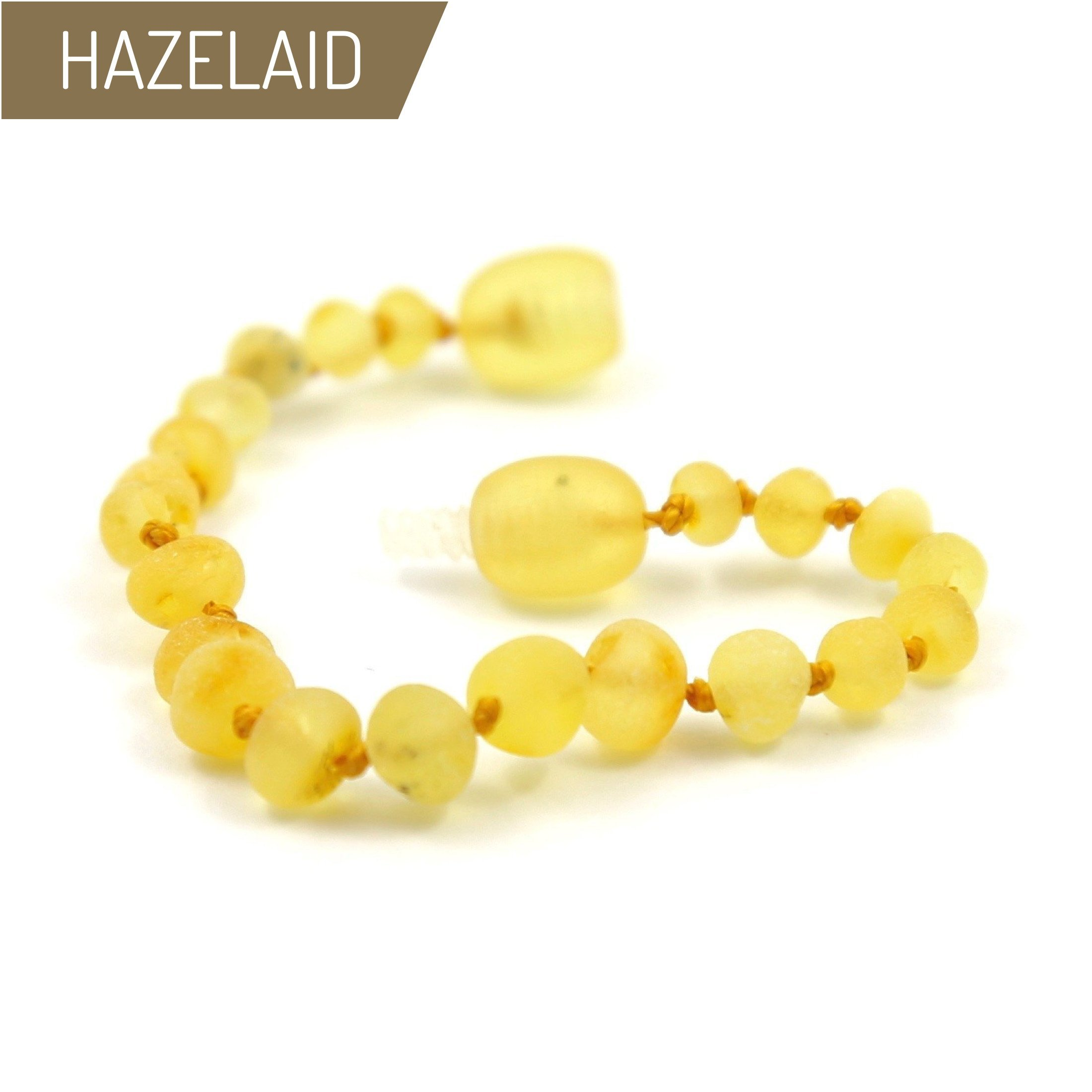 Hazelaid (TM) 5.5'' Twist-Clasp Baltic Amber Lemondrop Bracelet