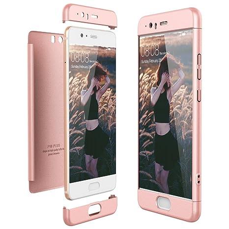 custodia huawei p10 plus silicone pink