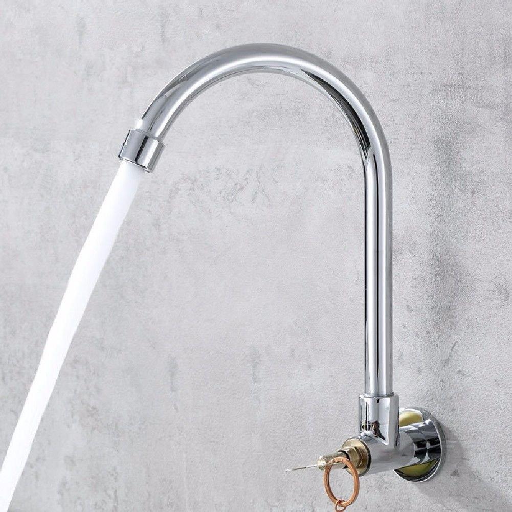 SHLONG in-Wall Sink Copper Faucet Outdoor Public-Purpose Anti-Theft Key Faucet