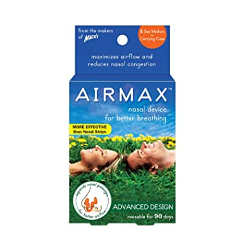 AIRMAX Nasal Dilator for Better Breathing – Natural, Comfortable, Breathing Aid Solution for Maximum