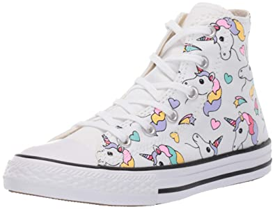 5c267a046260 Converse Girls Kids  Chuck Taylor All Star Unicorn Print High Top Sneaker
