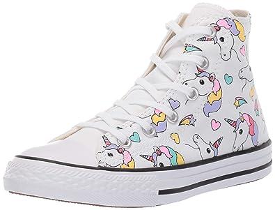 5d6336a0d3c ... shop converse girls kids chuck taylor all star unicorn print high top  sneaker white b281b 45404