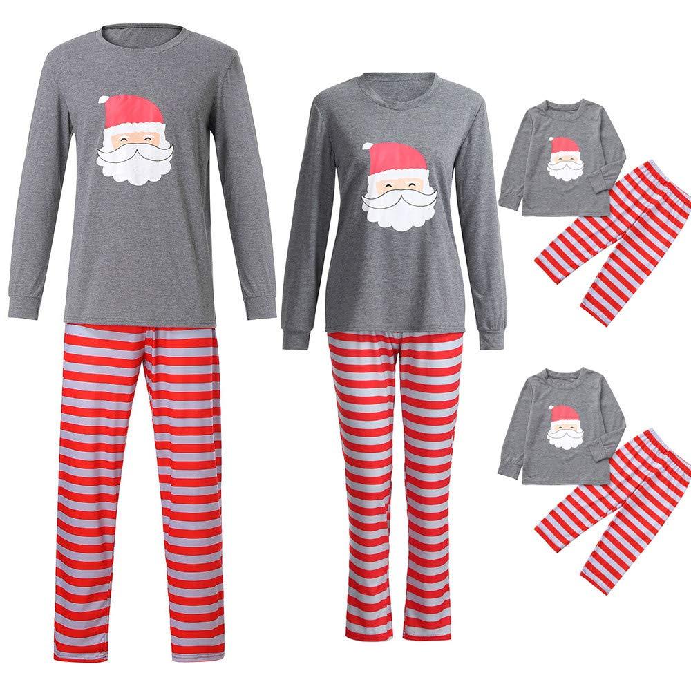 Family Christmas Pajamas Xmas Pajamas Sets Outfit Santa Claus Matching Family PJS Kids Boys Girls Homewear Nightwear
