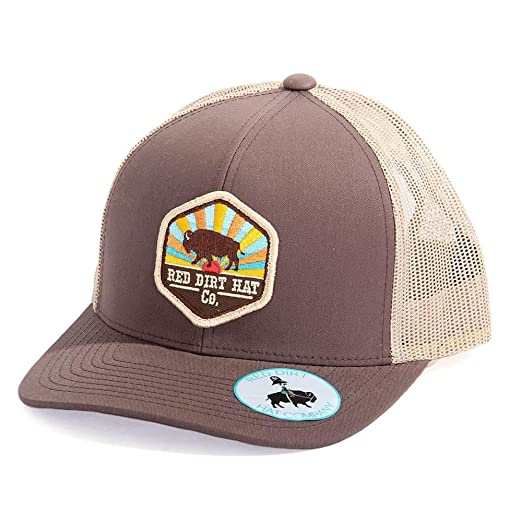 a9c344be072 Image Unavailable. Image not available for. Color  Red Dirt Hat Co. Men s  Sunset Buffalo Cap