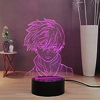 My Hero Academia 3D nachtlampje voor kinderen, decoratie 16 kleuren led-bureaulamp, touch & remote kamer, nachtlamp voor…